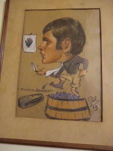 Caricature of Sante Matteo